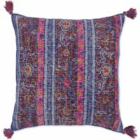 Style Statements by Surya Rug Design Paisley Square Throw Pillow in Cobalt