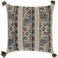 Style Statements by Surya Rug Design Paisley Square Throw Pillow in Charcoal