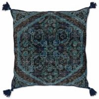 Style Statements by Surya Ikat Square Throw Pillow in Navy