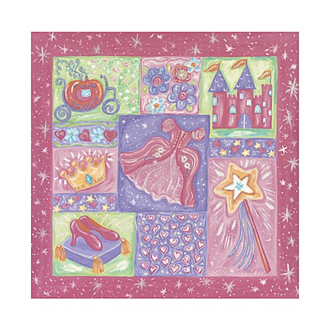 Princess Collage Canvas Art