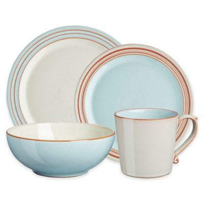 Denby USA Heritage Pavilion 4-Piece Place Setting in Blue  sc 1 st  Bed Bath \u0026 Beyond & Buy Blue Dinnerware from Bed Bath \u0026 Beyond