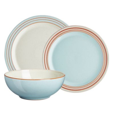 Denby Pavilion 12-Piece Dinnerware Set in Blue  sc 1 st  Bed Bath u0026 Beyond & Buy Dishwasher Microwave Oven Freezer Safe Dinnerware from Bed Bath ...