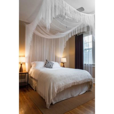 Caravan 4-Poster Bed Canopy in White