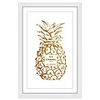 Marmont Hill Pine Gold 12-Inch x 18-Inch Framed Wall Art