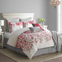 Bridge Street Blossom Full Comforter Set in Red