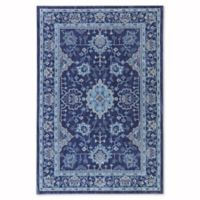 Mohawk Home Cascade Heights Parquet 5-Foot 3-Inch x 7-Foot 10-Inch Area Rug in Indigo