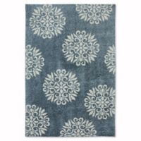 Mohawk Home Huxley Exploded Medallions 3-Foot 4-Inch x 5-Foot 6-Inch Accent Rug in Bay Blue