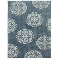 Mohawk Home Huxley Exploded Medallions 8-Foot x 10-Foot Area Rug in Bay Blue