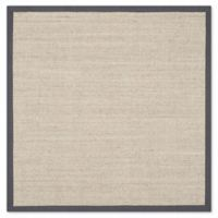 Safavieh Natural Fiber Madeline 4-Foot Square Accent Rug in Marble/Grey
