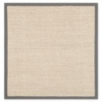 Safavieh Natural Fiber Madison 4-Foot Square Accent Rug in Marble/Grey
