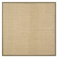 Safavieh Natural Fiber Madison 6-Foot Square Area Rug in Natural/Green