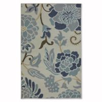 Mohawk Home Soho Power Flower 2-Foot 6-Inch 4-Foot Accent Rug in Sky Blue