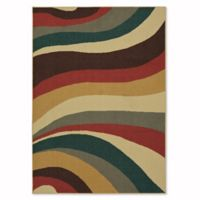 Mohawk Home Soho Wave Impression 5-Foot x 7-Foot Multicolor Area Rug