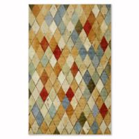 Mohawk Home Strata Argyle 5-Foot x 8-Foot Multicolor Area Rug
