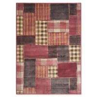 Safavieh Vintage Patchwork Panel 6-Foot 7-Inch x 9-Foot 2-Inch Area Rug in Rose/Multi