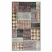 Safavieh Vintage Patchwork Panel 3-Foot 3-Inch x 5-Foot 7-Inch Area Rug in Light Blue