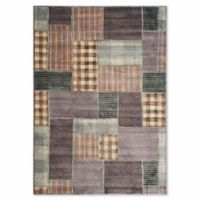 Safavieh Vintage Patchwork Panel 6-Foot 7-Inch x 9-Foot 2-Inch Area Rug in Light Blue