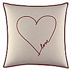 ED Ellen DeGeneres Levitt Heart Square Throw Pillow in Beige