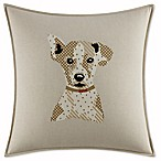 ED Ellen DeGeneres Toluca Dog Square Throw Pillow in Beige