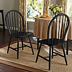 Windsor Dining Chairs in Black (Set of 2)