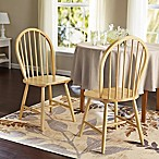 Windsor Dining Chairs in Natural (Set of 2)
