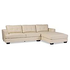 Baxton Studio Dobson Leather Modern Sectional Sofa Bed Bath Amp Beyond