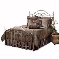 Hillsdale Doheny King Bed Set in Antique Brown with Rails