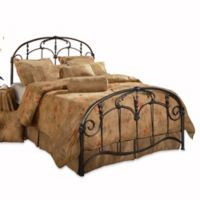 Hillsdale Jacqueline King Bed Set in Brushed Pewter with Rails