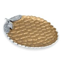 Julia Knight® Luxe Lodge Pine Cone 13-Inch Platter in Toffee