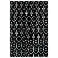 Kaleen Cozy Toes Cubes 9-Foot x 12-Foot Area Rug in Black