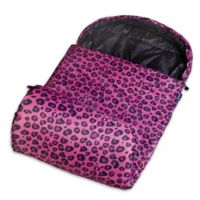 Wildkin Leopard Stay Warm Sleeping Bag in Pink