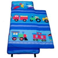 Olive Kids Trains, Planes 100% Cotton Nap Mat in Blue