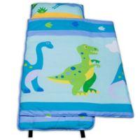 Olive Kids Dinosaur Land 100% Cotton Nap Mat in Blue