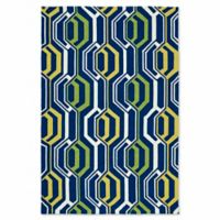 Kaleen Escape Mirrors 9-Foot x 12-Foot Indoor/Outdoor Area Rug in Navy