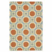 Kaleen Escape Pumpkin Tiles 9-Foot x 12-Foot Indoor/Outdoor Area Rug in Orange