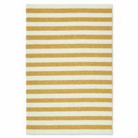 Kaleen Escape Stripes 9-Foot x 12-Foot Indoor/Outdoor Area Rug in Gold