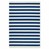 Kaleen Escape Stripes 9-Foot x 12-Foot Indoor/Outdoor Area Rug in Navy