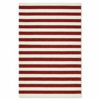 Kaleen Escape Stripes 9-Foot x 12-Foot Indoor/Outdoor Area Rug in Red
