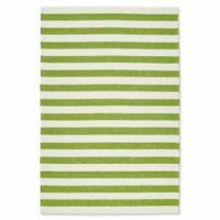 Kaleen Escape Stripes 9-Foot x 12-Foot Indoor/Outdoor Area Rug in Green