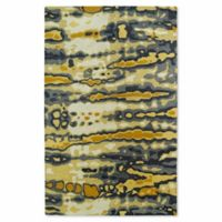 Kaleen Brushstrokes Dye 9-Foot 6-Inch x 13-Foot Area Rug in Gold