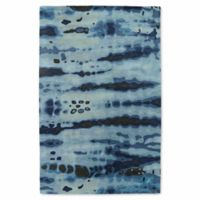 Kaleen Brushstrokes Dye 9-Foot 6-Inch x 13-Foot Area Rug in Blue