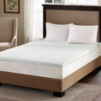 Sleep Philosophy Flexapedic 2-Inch Gel Memory Foam Queen Mattress Topper in White