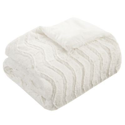 premier comfort casper down alternative throw blanket in ivory