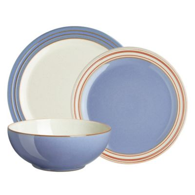 Denby Heritage Fountain 12-Piece Dinnerware Set in Blue  sc 1 st  Bed Bath \u0026 Beyond : denby dinnerware set - pezcame.com
