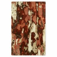 Kaleen Brushstrokes Tribal 9-Foot 6-Inch x 13-Foot Area Rug in Rust