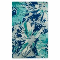 Kaleen Brushstrokes Floral 9-Foot 6-Inch x 13-Foot Area Rug in Blue