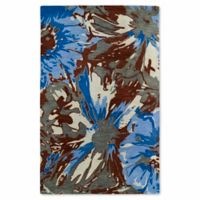 Kaleen Brushstrokes Floral 9-Foot 6-Inch x 13-Foot Multicolor Area Rug
