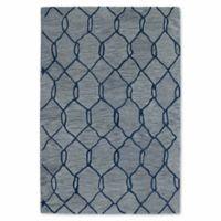 Kaleen Casablanca Trellis 9-Foot 6-Inch x 13-Foot 7-Inch Area Rug in Blue