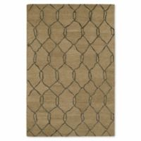 Kaleen Casablanca Trellis 9-Foot 6-Inch x 13-Foot 7-Inch Area Rug in Light Brown