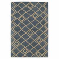 Kaleen Casablanca Diamonds 9-Foot 6-Inch x 13-Foot 6-Inch Area Rug in Blue
